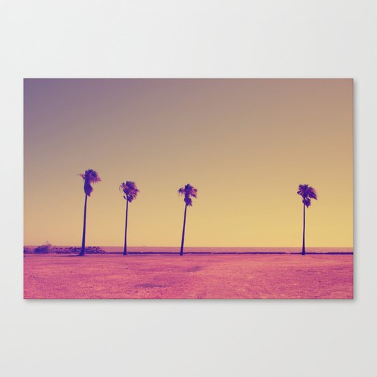 Four Palms In Paradise Canvas Print