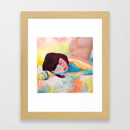 Puffinette Framed Art Print