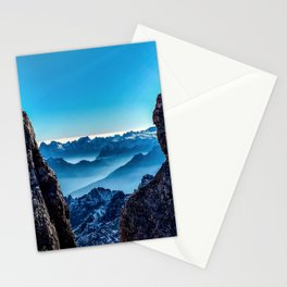 Moutain sky ice blue Stationery Cards