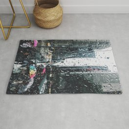 New York City in the Rain Rug