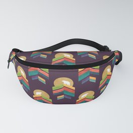 Lingering mountain with golden moon Fanny Pack