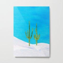 Two Saguaros Metal Print