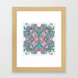 Blossoming Mandala Framed Art Print