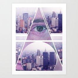 Eyes São Paulo  Art Print