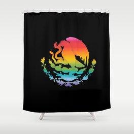 Escudo Mexicano Shower Curtain