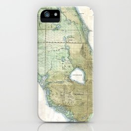 Vintage Map of Florida (1853) iPhone Case