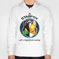 starfox Hoodies featuring Mercernary Unit: STAR FOX by RuiShi