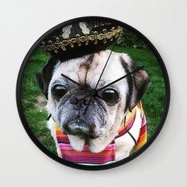Pug Cinco de Puggo  Wall Clock