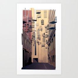 Birdcage Alley Art Print