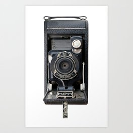 Vintage Autographic Kodak Jr. Camera Art Print
