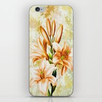 vintage floral iPhone & iPod Skins featuring Vintage Floral by Colorful Art