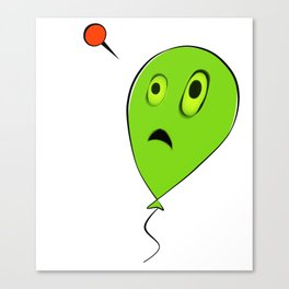 Threatened Balloon Canvas Print