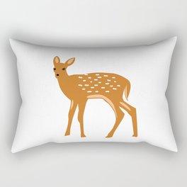 Baby Deer and Snow Rectangular Pillow