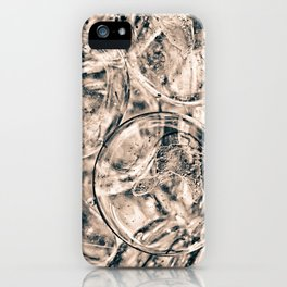 Vintage style photo of clear glass marbles iPhone Case