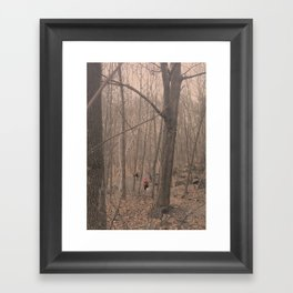 Red forrest Framed Art Print