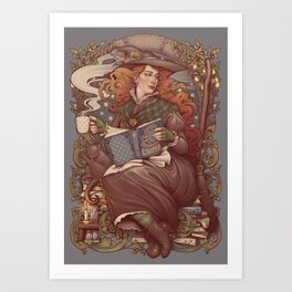 NOUVEAU FOLK WITCH Art Print
