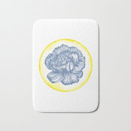 Carnation Birth Flower - January - Blue Bath Mat