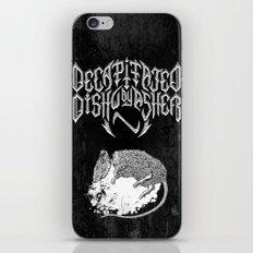 Decapitated by dishwasher II (black) iPhone & iPod Skin