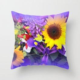 Flower Market Throw Pillow