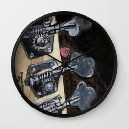 Bass Guitar Headstock Wall Clock
