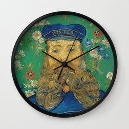 Vincent Van Gogh - Portrait of the Postman Joseph Roulin Wall Clock