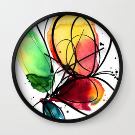Ecstasy Bloom No.6 by Kathy Morton Stanion Wall Clock