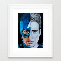 steve rogers Framed Art Prints featuring Steve Rogers by Goolpia