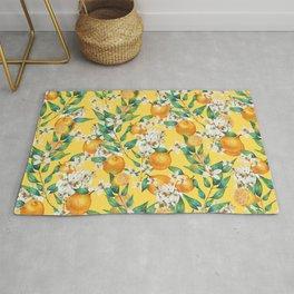 Lemon and lemon flowers blossom - YBG Rug