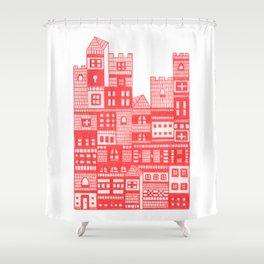 Tangerine Castle Shower Curtain