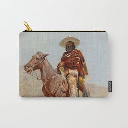 """""""Mexican Vaquero Horseman"""" by Frederick Remington Carry-All Pouch"""