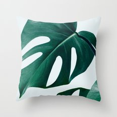 Monstera #society6 #artprints #buyart Throw Pillow