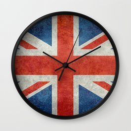 British flag of the UK, retro style Wall Clock