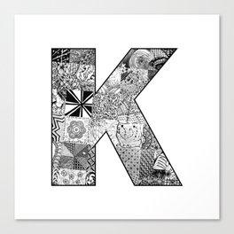 Cutout Letter K Canvas Print