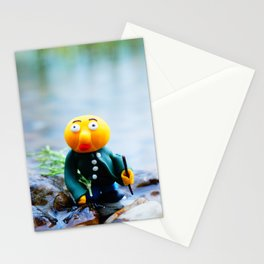 exhausted gwerg Stationery Cards
