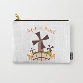 Dutch windmill with canal foot bridge Carry-All Pouch