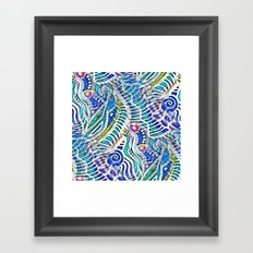 Under the Sea Abstract Nautilus  Framed Art Print