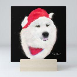 Samoyed Portrait of Tucker Mini Art Print