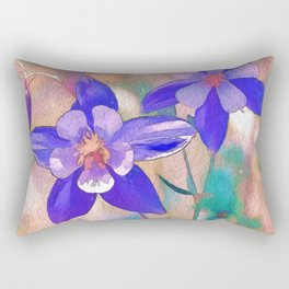Colorado Columbine Flower Rectangular Pillow