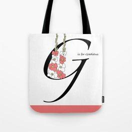 Gladiolas Print Tote Bag