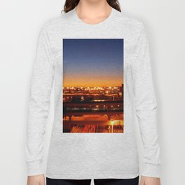 Airport Sunset Time Lapse Long Sleeve T-shirt
