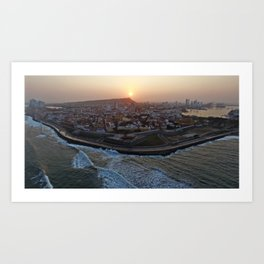 Sunrise over Cartagena de Indias Art Print