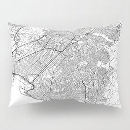 Athens White Map Pillow Sham
