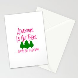 Adventure Is Out There But My Bed Is So Warm Funny Quote Stationery Cards