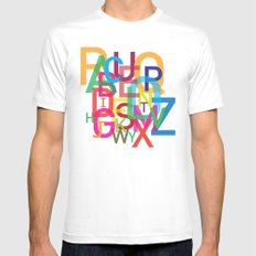 AMAZING ALPHABET White Mens Fitted Tee MEDIUM