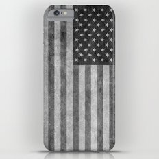 American flag - retro style in grayscale Slim Case iPhone 6 Plus