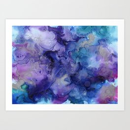 Abstract Watercolor and Ink Kunstdrucke