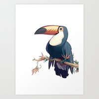 toucan Art Prints featuring Toucan by Alex Perkins
