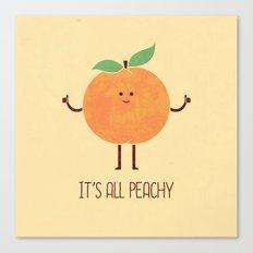 All Peachy Canvas Print