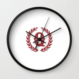 Rustic Red Monogram: Letter Q Wall Clock