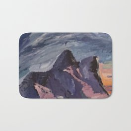 mountains sunset  Bath Mat